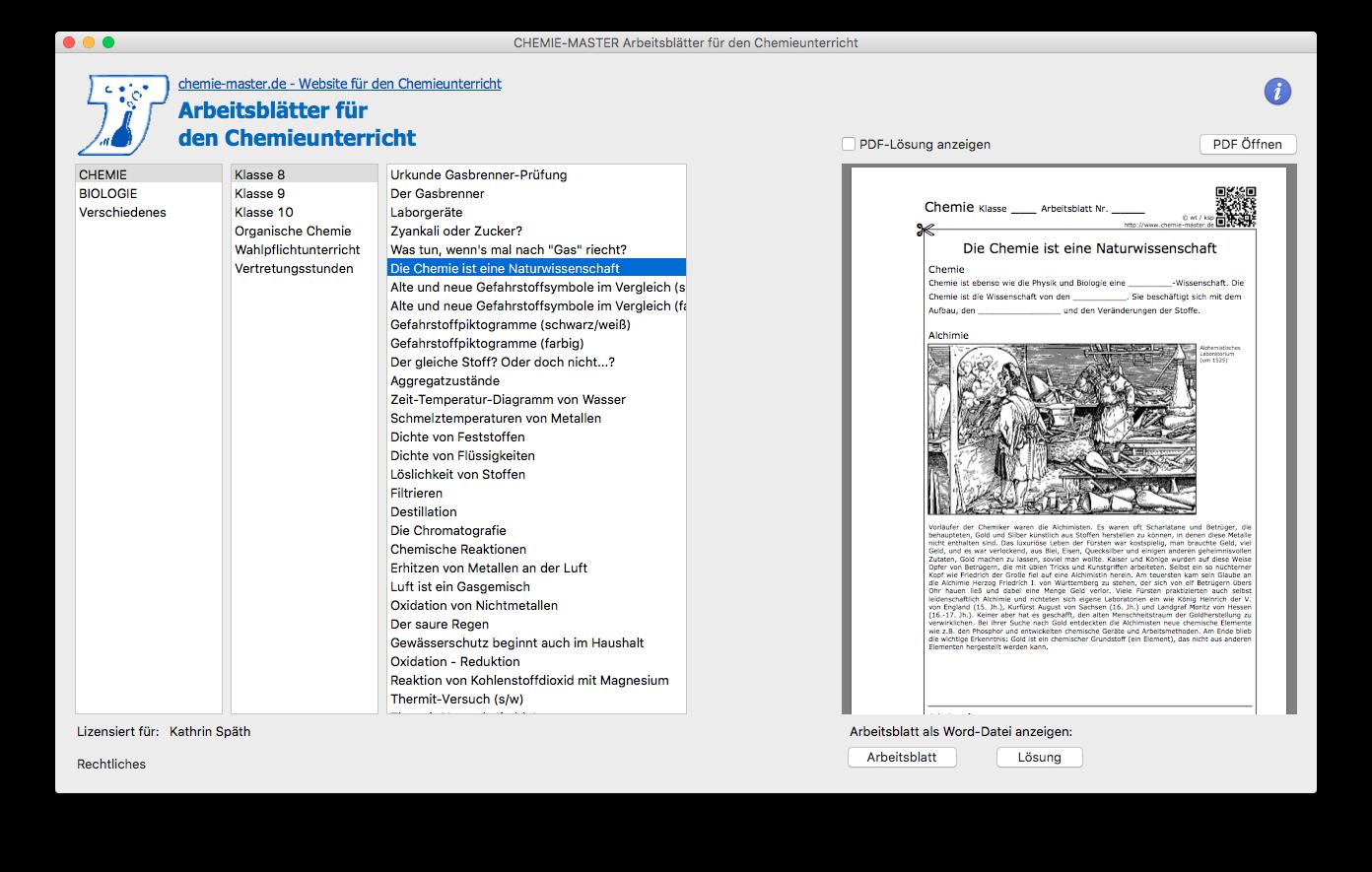 Arbeitsblätter inkl. Lösungen Homelizenz